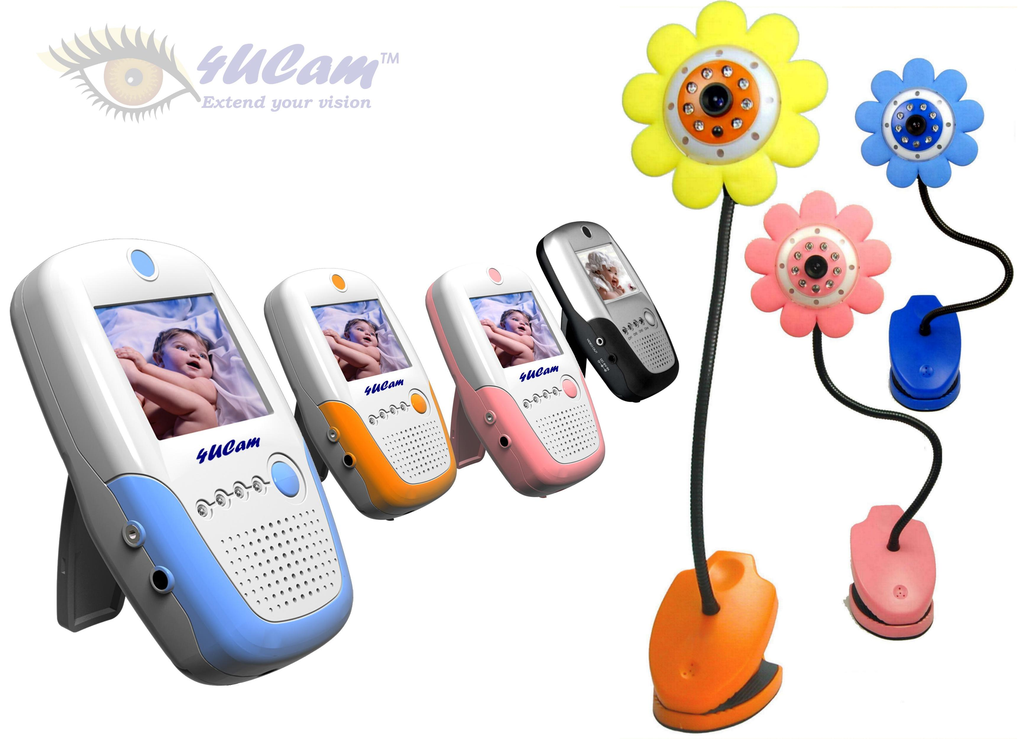 dancing daisy handheld 2 5 color video baby monitor and 2 4ghz wireless camera day night. Black Bedroom Furniture Sets. Home Design Ideas