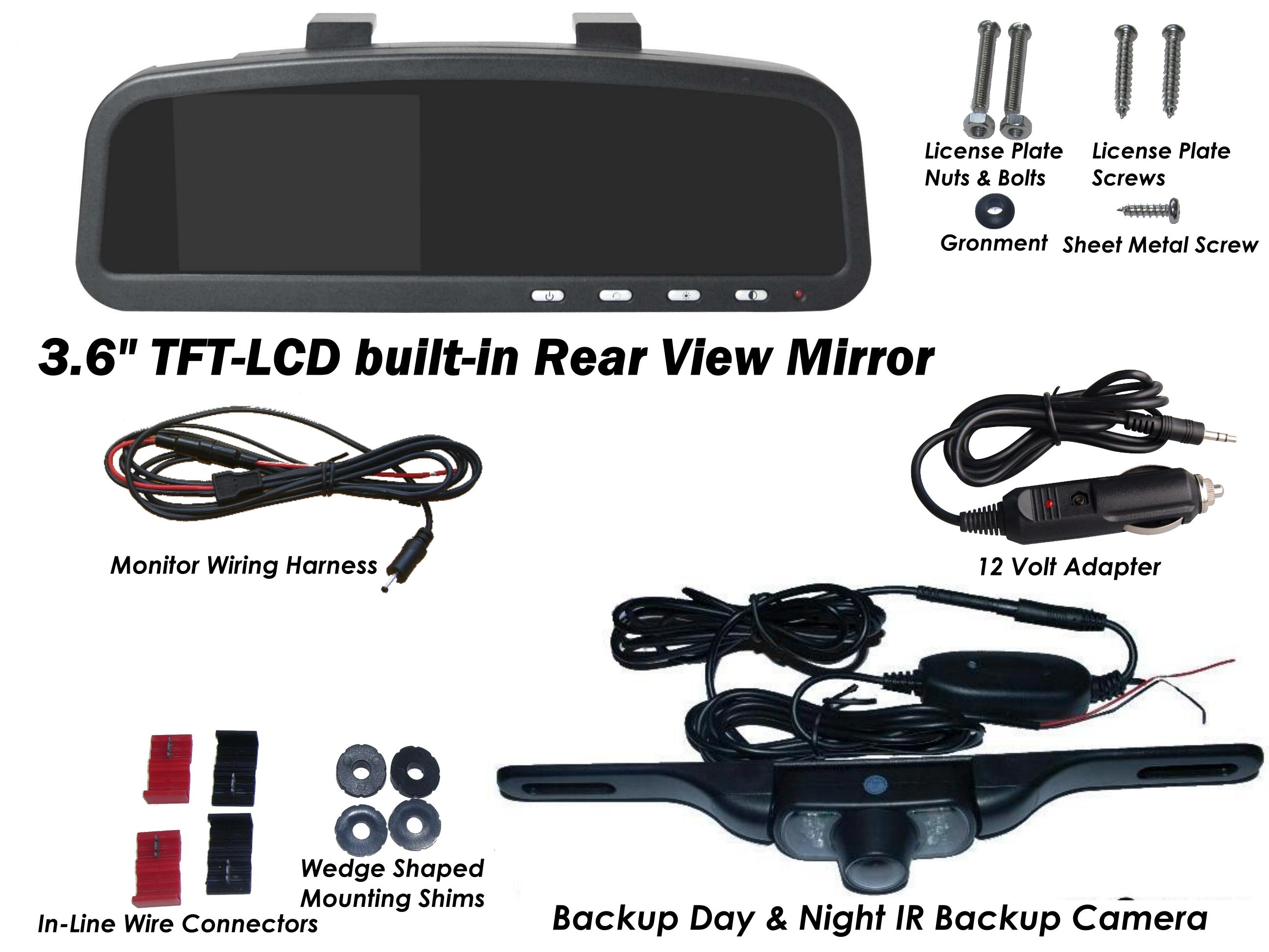 Wireless Car Backup Camera 25 Lcd Color Monitor And 24ghz Tft Wiring Accessories