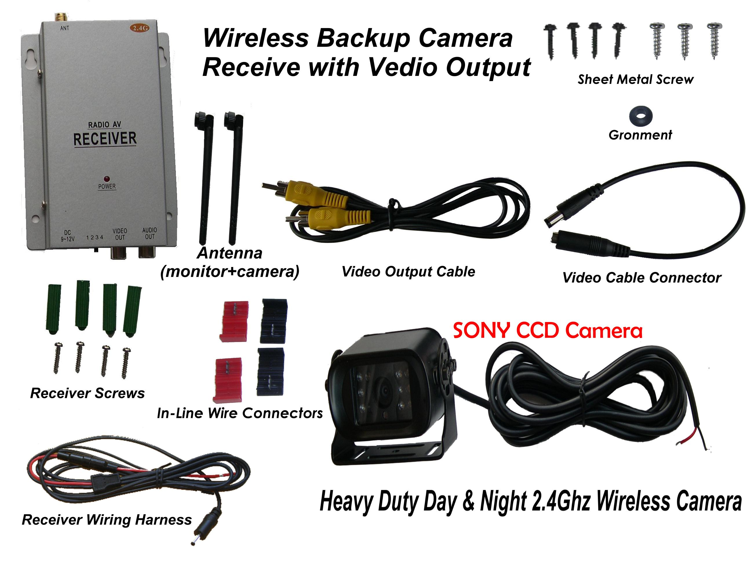 Wireless Car Backup Camera 25 Lcd Color Monitor And 24ghz Easy Wire Power 21mm Dc Plug For Cctv Cameras With Screw Terminals You Can Get The System Below Is Designed Rated Snow Removing Equipments Female Rca To Male 35mm Connector