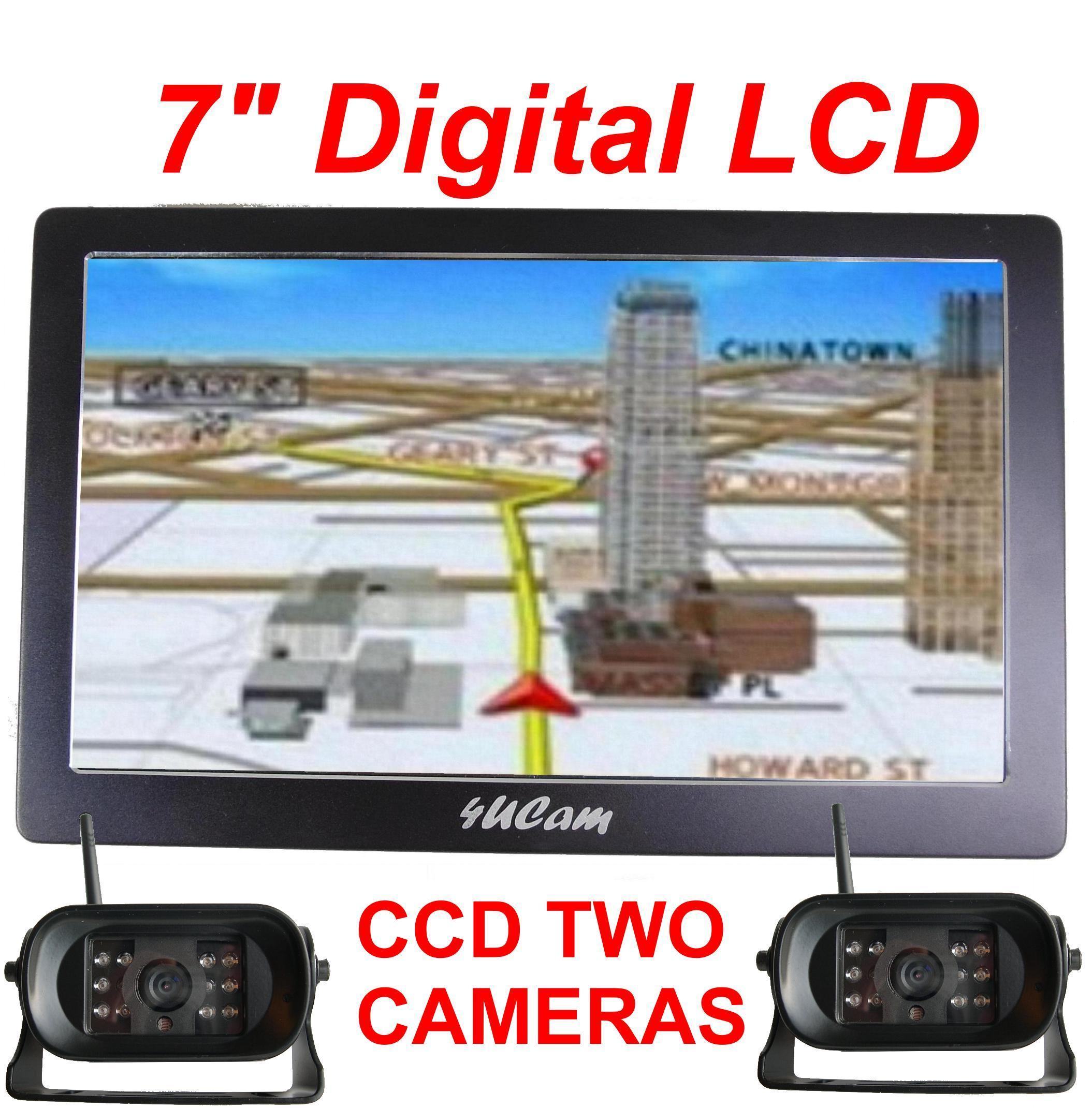 7 Inch Gps Wireless Backup Round Camera Color Monitor Rv Truck Reversing Tft Lcd Wiring Diagram Hd Digital Touch Screen Dual Ccd W Bluetooth System Item Gps7d 9901dual Listed Price 69999 Now 34995
