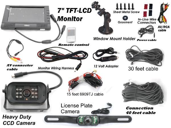 Wireless Car Backup Camera Color Monitor Rv Truck Trailer