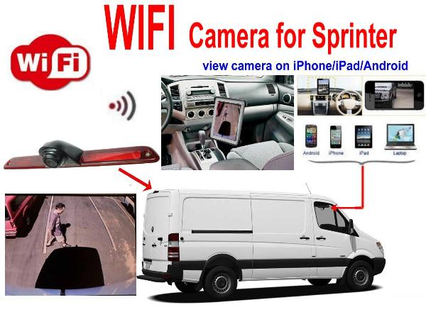 Sprinter wifi iPhone Android iPad WIFI car backup camera
