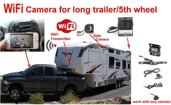 Trailer 5th Wheel Rv Iphone Android Ipad Wifi Car Backup Camera